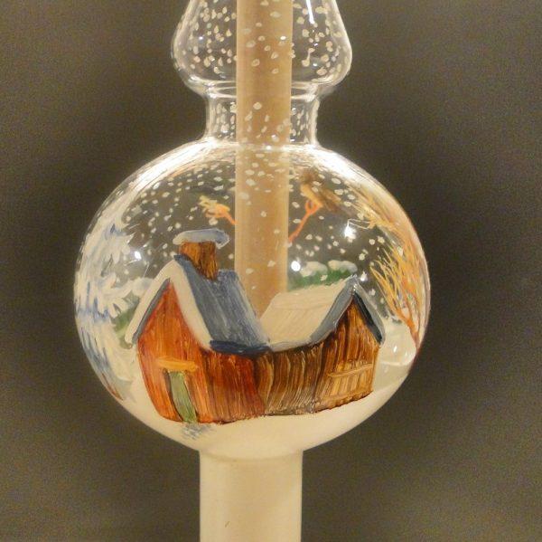Glas-Christbaumspitze - handbemalt