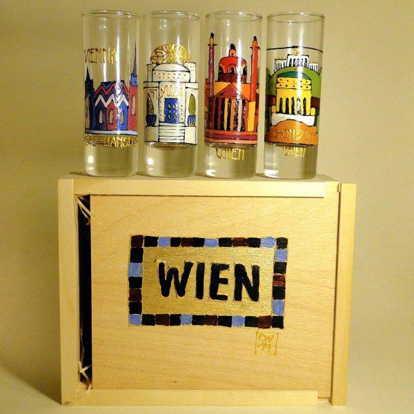 Gläser-Set - handbemalt