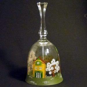 Glas-Glocke - handbemalt